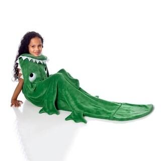 """WestPoint Home Green """"Alligator"""" Plush Kid Throw"""