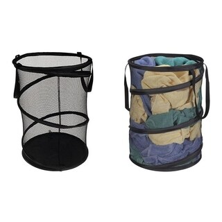 2 Pack Mesh Laundry Bag Collapsible Laundry Basket