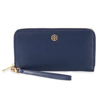 Tory Burch Parker Zip Tory Navy Continental Wallet|https://ak1.ostkcdn.com/images/products/18794242/P24863003.jpg?impolicy=medium