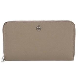 Tory Burch Robinson French Grey Zip Continetal Wallet