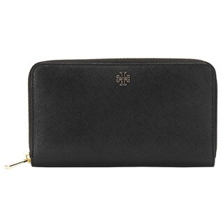 Tory Burch Robinson Black Zip Continetal Wallet