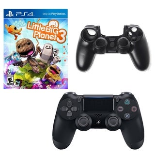 DualShock 4 Controller with Little Big Planet 3 Game and Silicone Sleeve