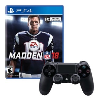 Dualshock 4 Wireless Controller With Madden NFL 18 Game