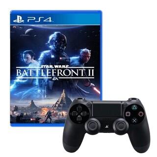 Dualshock 4 Wireless Controller With Star Wars Battlefront 2 Game