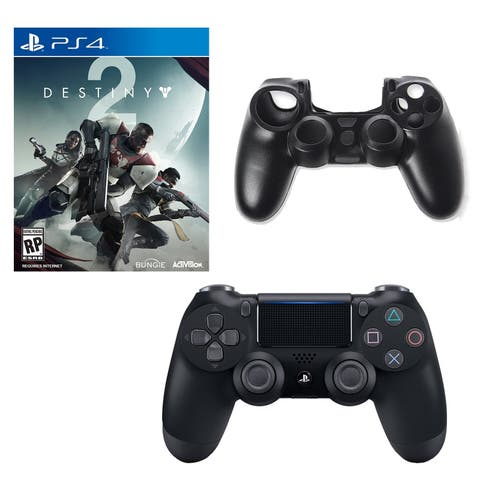 DualShock 4 Controller with Destiny 2 Game and Silicone Sleeve