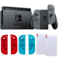 Nintendo Switch in Gray with Silicone Sleevs and Screen Protector Bundle