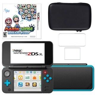 New Nintendo 2DSXL with Mario and Luigi Dream Team, Carry Case and Screen Protector
