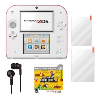 Nintendo 2DS Super Mario Bros. 2 Scarlet Red Gaming Console and Accessories