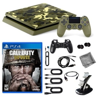Playstation 4 1TB LE COD WWII Console with 9 in 1 Kit