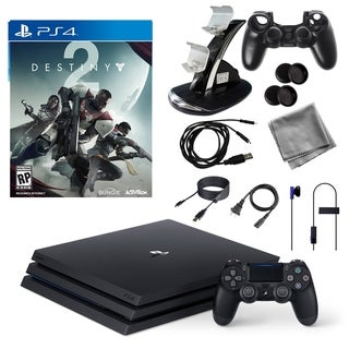 PlayStation Pro 1TB Console with Desiny 2 Game and Accessories Kit