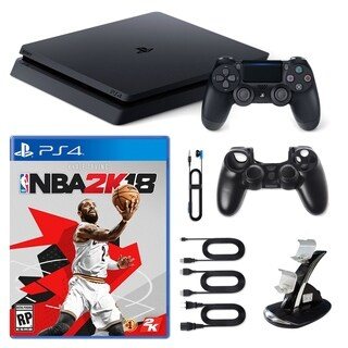 Playstation 4 1TB Core Console with NBA 2K18, Dual Charger and Silicone Sleeve