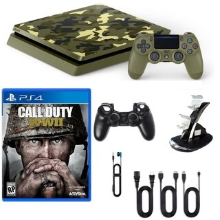 PlayStation 4 1TB LE COD WWII Console with Game and Accessories.