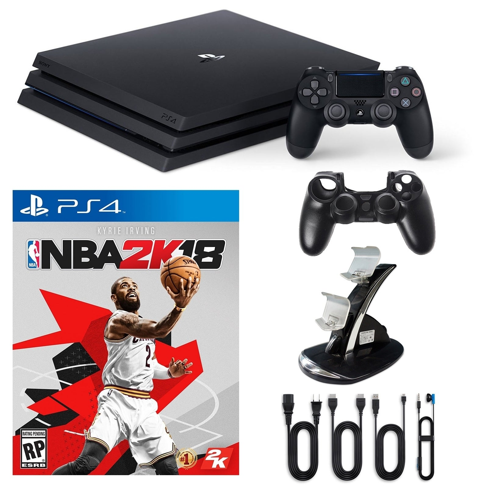Playstation 4 1TB Pro Console with NBA 2K and Accessories...