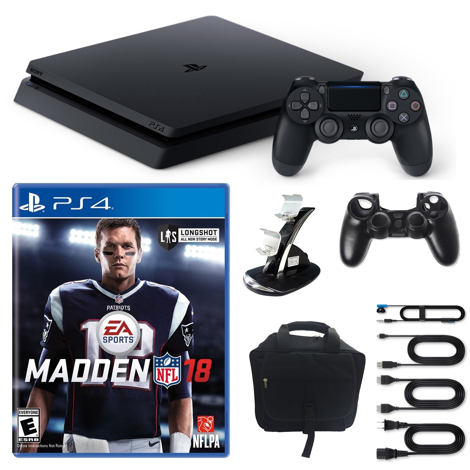 Playstation 4 1TB Core Console with Madden NFL 18, Consol...