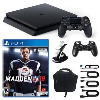 Playstation 4 1TB Core Console with Madden NFL 18, Console Bag and More