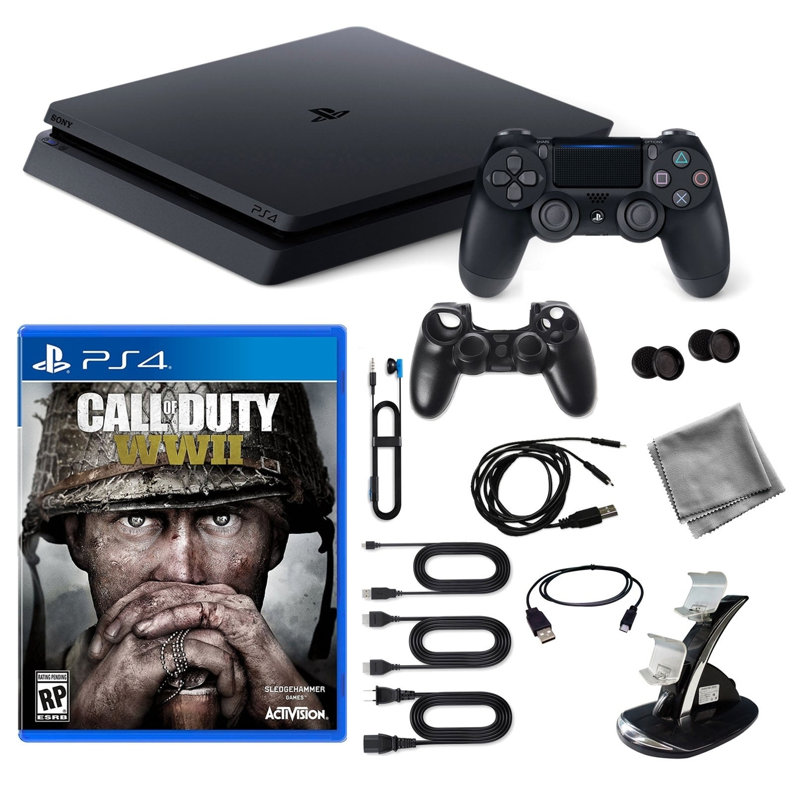 Playstation 4 1TB Core Console with COD Wwii Game and 9 i...