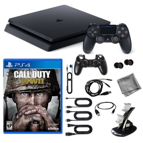 Playstation 4 1TB Core Console with COD WWII Game and 9 in 1 Kit