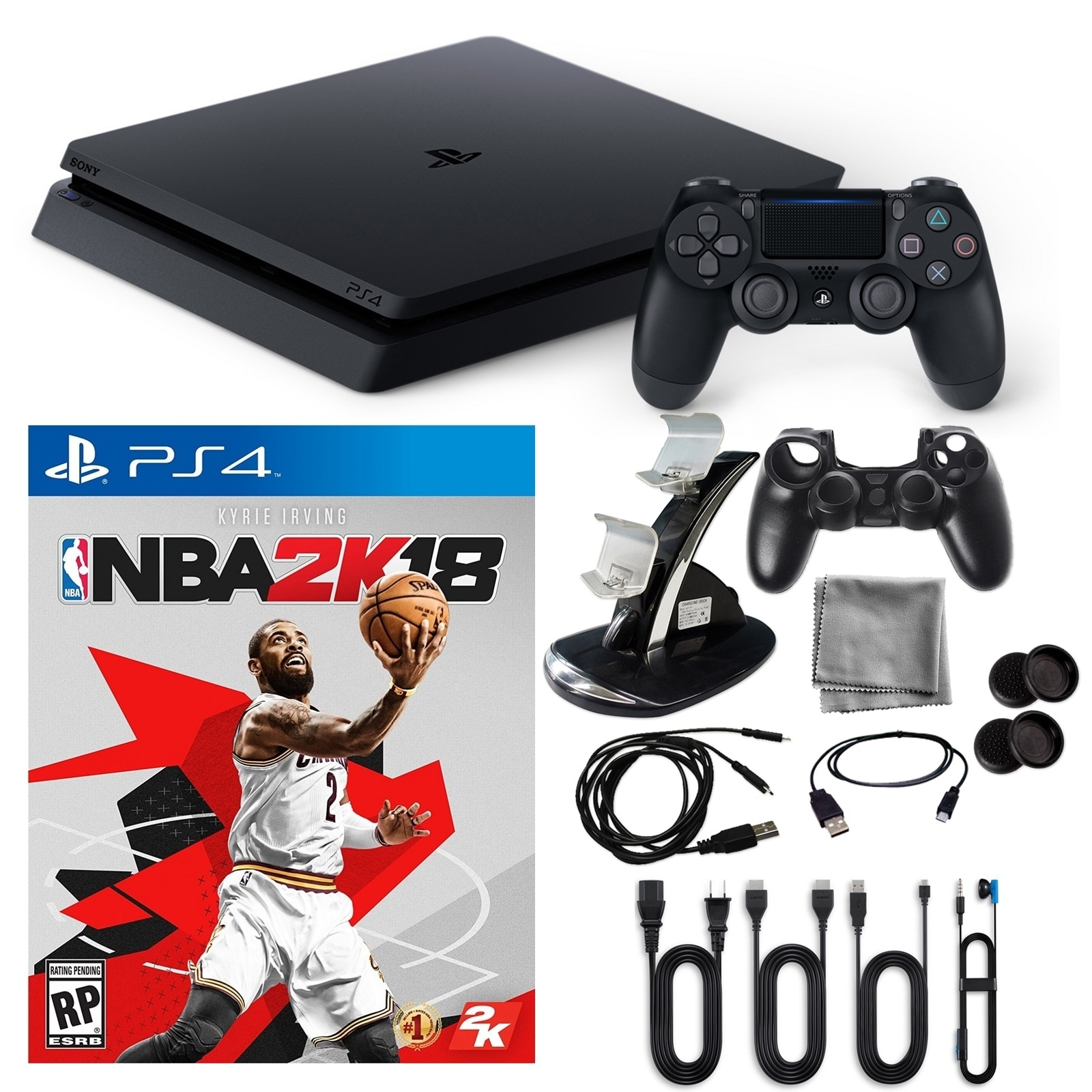 Playstation 4 1TB Core Console with NBA 2K and Accessorie...