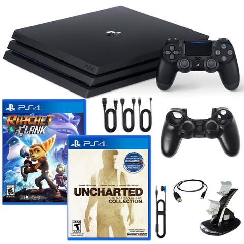 PlayStation 4 Pro Console with 2 Games and Accessories