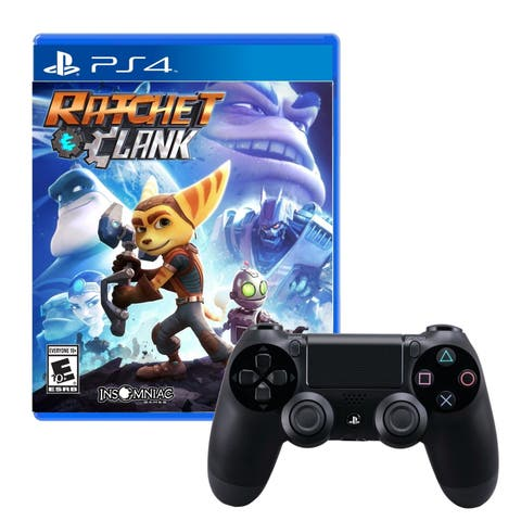 Dualshock 4 Wireless Controller With Ratchet and Clank Game - N/A - N/A