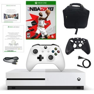 Xbox One S 500GB Disti Console with NBA with Console Bag and Charging Dock