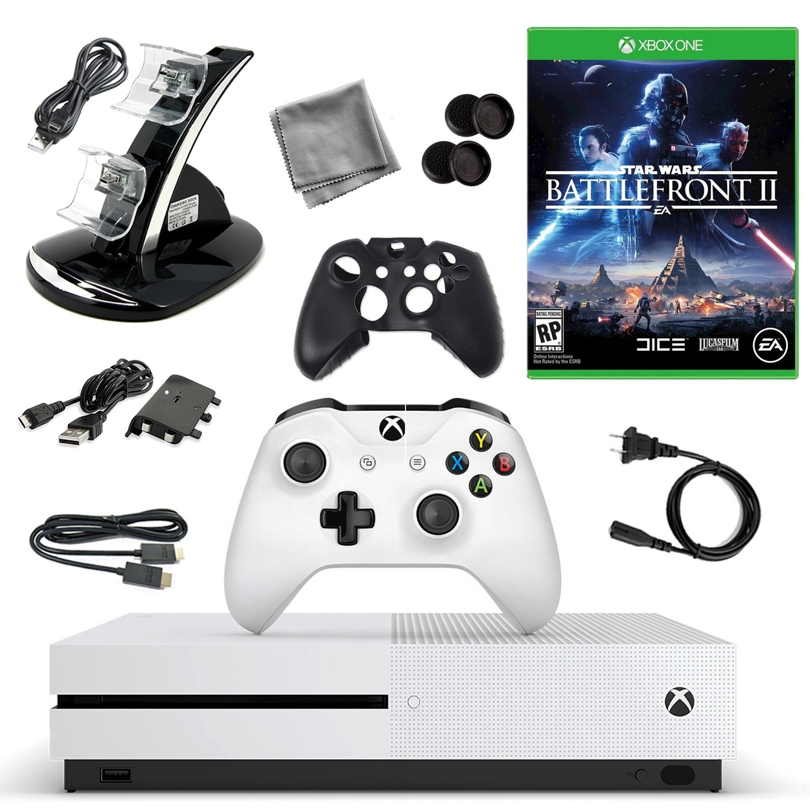 XBox One S 500GB Console with Star Wars Battlefont 2 10 in 1 Accessories