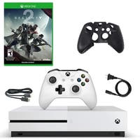 XBox One S 500GB Console with Distiny 2 and Silicone Sleeve