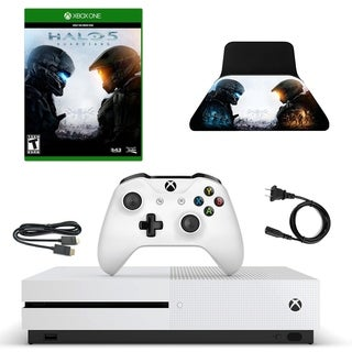 XBox One S 500GB Console with Halo 5 and Accessories