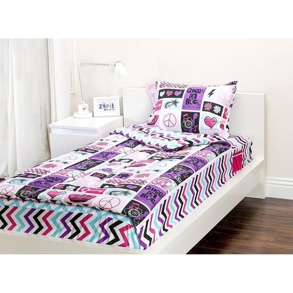Shop Zip It Rock Princess Twin Bedding Set On Sale Free Shipping