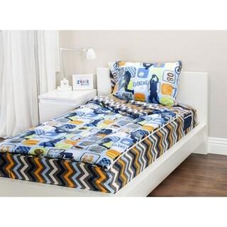 Zip It Bedding Reversible Twin Bedding Set