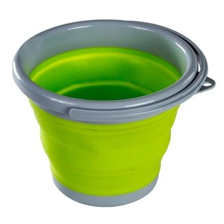 Folding Collapsible Bucket 1 Gallon Silicone Bucket With Handle