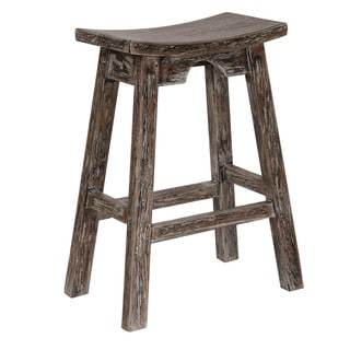 OSP Designs Home Indoor Counter Height Saddle Stool