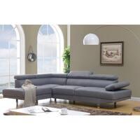 Debbie Linen Fabric Sectional Sofa
