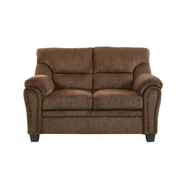 Global Furniture Accent Chair With Nailhead: Shop Global Furniture Loveseat W/ Nail Head Trim Tobacco