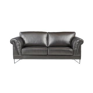 Global Furniture Shell Design Arms Silver Sofa