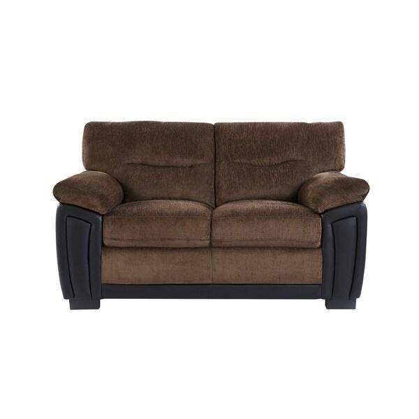 Shop Global Furniture Coffee Brown Two Tone Loveseat