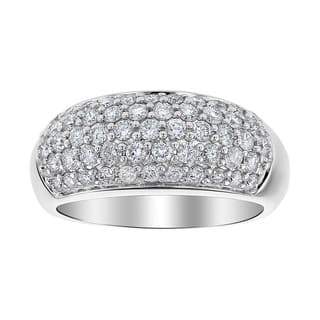 14k White Gold 1ct Diamond Pave Dome Ring|https://ak1.ostkcdn.com/images/products/18796043/P24864102.jpg?impolicy=medium