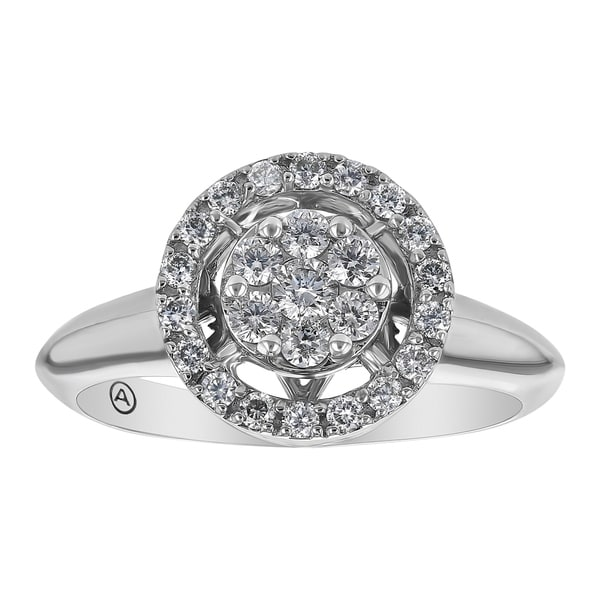 14K White Gold 1/2ct Diamond Fashion Ring