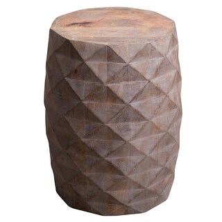 Handmade Wood Triangle Side Table (India)