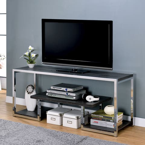 Lampon Contemporary Grey 3-shelf TV Stand by FOA