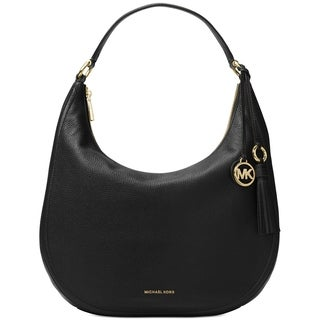 MICHAEL Michael Kors Lydia Large Hobo Leather Black