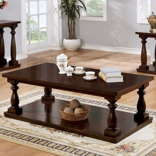 Furniture Of America Jessa Rustic Country 54 Inch Coffee Table