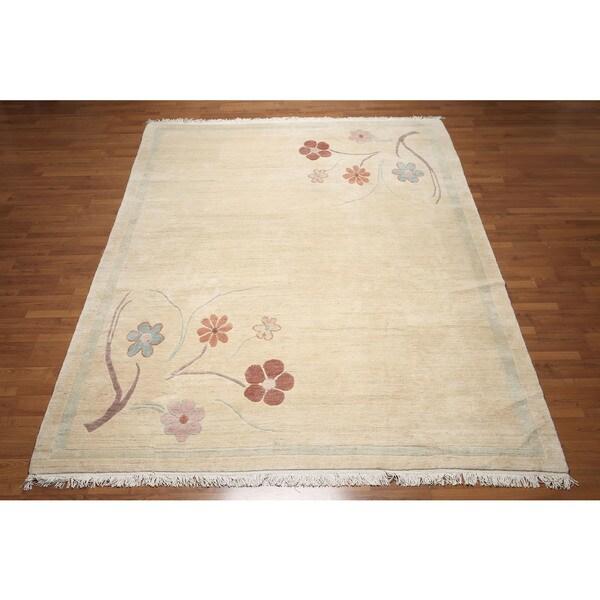 Tibetan Beige Hand-knotted Wool Area Rug - 8'4 x 11'6