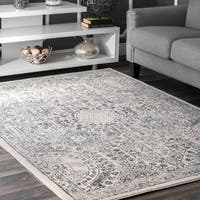 nuLoom Traditional Honeycomb Grey Area Rug - 10' x 14'