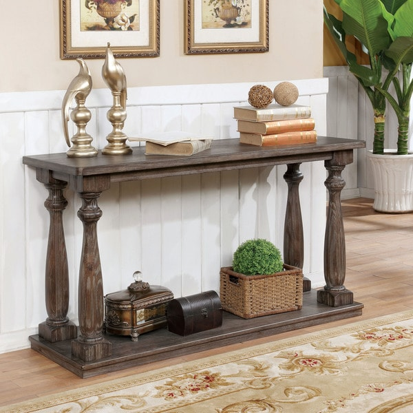Rustic Sofa Tables For Sale: Shop Furniture Of America Jessa Rustic Country Style Open