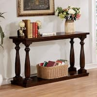 Furniture of America Jessa Rustic Country Style Open 54-inch Wood Sofa Table