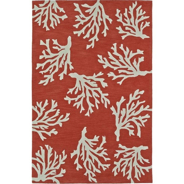 "ADDISON Beaches Coastal Coral Reef/Ivory Area Rug (3'6""X5'6"")"