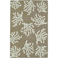 "ADDISON Beaches Coastal Coral Sand/Ivory Area Rug  (3'6""X5'6"")"