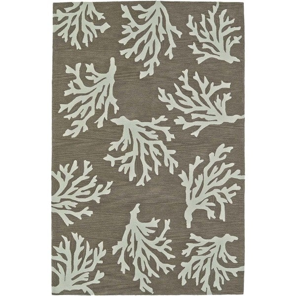 Addison Rugs Beaches Coastal Coral Sand/Ivory Polyester Area Rug - 8'X10'