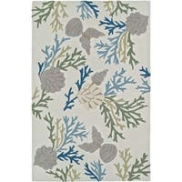 ADDISON Beaches Coral Shells Pearl/Multi Area Rug - 8'X10'